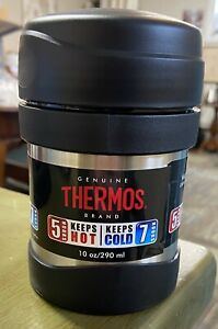 Thermos Brand Vacuum Insulated Stainless Steel Double Wall Food Drink Jar 10oz