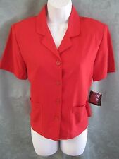 Sag Harbor Red Silk Blouse Size PS NWT