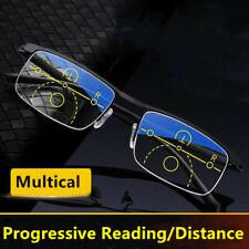 Smart zoom Reading glasses distance&near Progressive multi-focus Anti blue light