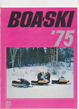 1975 Vintage BOA SKI  Snowmobile Brochure BAR RACER