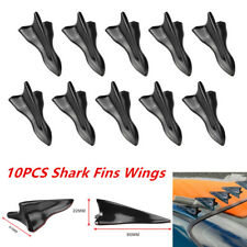 10Pcs Vortex Generator Diffuser Shark Fin For Wing Spoiler Roof Windshield Well