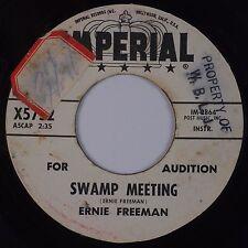 ERNIE FREEMAN: Swamp Meeting USA IMPERIAL DJ Promo 45 VG+ WOL Sticker