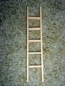 6 INCH STRAIGHT LADDER - WOOD  - DOLL HOUSE MINIATURE