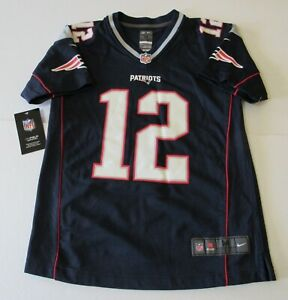 Tom Brady NFL NIKE Jersey On Field New England Patriots TB 12 Kids Medium