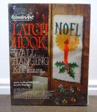 WonderArt Latch Hook Kit Christmas Noel Candle New Sealed Vintage
