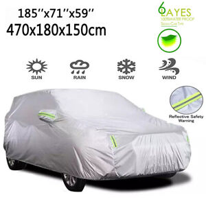 Car Cover Waterproof Sun UV Snow Rain Resistant All Weather Sedan Protection