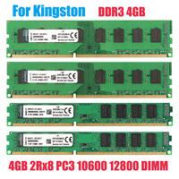 For Kingston 4GB PC3-10600U 12800U DDR3 1600 1333MHz Desktop Memory RAM DIMM @BM