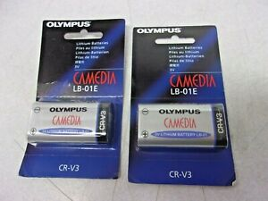 2x GENUINE OLYMPUS CAMEDIA BATTERIES, LB-01E CR-VS LITHIUM 3 VOLT