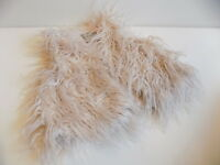 Next girls cute shaggy hairy faux fur gillet gilet jacket size 3-4 years 4y la