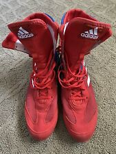 Adidas Box Hog Plus Boxing Shoes Boots Da9896 Mens Size 12 Red Blue