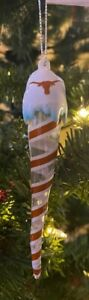 Texas Longhorns Icicle Ornament Christmas Tree LIGHTS UP! Holiday FREE SHIPPING
