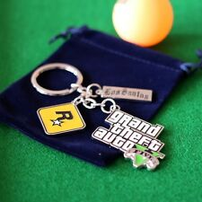 GTA 5 Game.Grand Theft Auto V trinket.keychain metal.Men Fans Xbox PC PS4