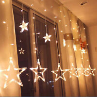 LED Star Fairy String Curtain Window Lights Twinkle Christmas Party Wedding AU