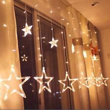 138 светодиодная звезда фея строка занавес окна огни мерцают рождественская вечеринка свадьба