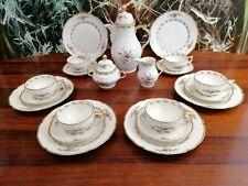 ROSENTHAL Sanssouci MOOSROSE, edles 21 teiliges Tee- Kaffeeservice 6 Pers.