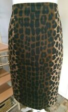 Ladies Hobbs Leopard Print Skirt Size 18 - Fully Lined