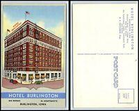 IOWA Postcard - Burlington, Hotel Burlington K55