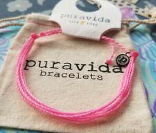 Pink Breast Cancer Awareness Bracelet New Pura Vida Live Free Solid