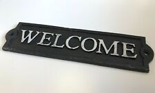 WELCOME sign cast iron plaque
