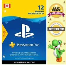 Play Station Plus 12 Months PS3 - PS4 - PS5 - PS VITA Key Code 🔑 Region CA ✔