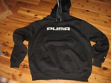 MENS XL PUMA HOODED SWEATSHIRT HOODIE BLACK NEW WOT