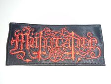 MUTIILATION BLACK METAL EMBROIDERED PATCH