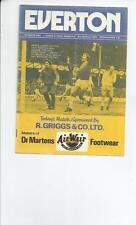 Everton v QPR Football Programme 1977/78