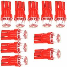 10 x Red LED T10 194 2825 168 158 285 wedge lights bulbs license plate  parking