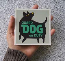 "(Quantity 2) Beware of Guard Dog Window Decal Sign, 4"" x 4"""