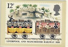 C 052 BRITISH PHQ POSTCARD LIVERPOOL AND MANCHESTER RAILWAY
