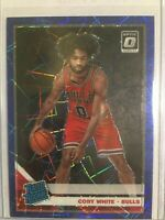 Coby White 2019-20 Donruss Optic Blue Velocity Prizm Rated Rookie RC #180 Bulls