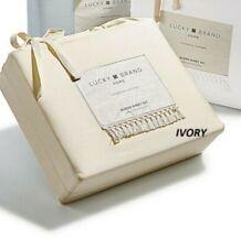 Lucky Brand Home - Twin Xl Sheet Set - Fringed Hem - Ivory