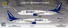 8A72/ 8Adecs - Decals für Boeing 737-800 - CANJET - 1/144