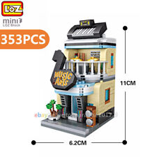 Loz Mini Blocks Diy Kids Adult Building Toys City Street Musical Instrument Shop