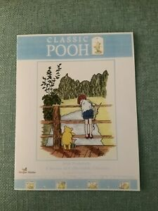"""Classic Winnie the Pooh """"Poohsticks"""" ~Counted Cross Stitch Pattern. Booklet"""