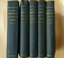 Commentary on the Book of Psalms.  5 vols.  John Calvin.  Eerdmans. 1963