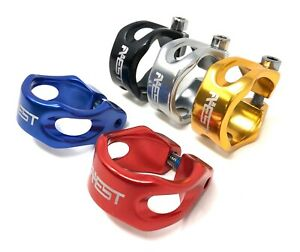 AEST Anodized Aluminum Alloy Bike Seatpost Saddle Clamp in 31.8mm and 34.9mm