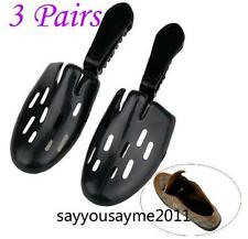 3 pairs Mens travel & home resin shoe trees shapers stretcher