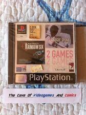2 Games in 1 RAIMBOW SIX + ROGUE SPEAR RARE Sony Psone Ps1 Psx PAL ITA RARO!!!