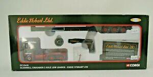 Corgi 1:50 CC12610 Scammell Crusader 3 Axle Low Loader Eddie Stobart Ltd, Boxed.