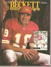 Beckett Football Complete Magazine July 1993 Joe Montana/Walter Payton