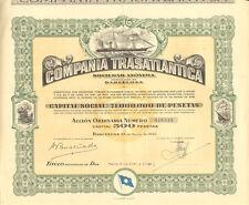 Compania Trasatlantica > 1946 Barcelona Spain Transatlantic Company certificate