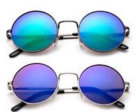 Retro Round Kids Aviators Sunglasses Colorful Lens UV 100% Lead Free Boys Girls
