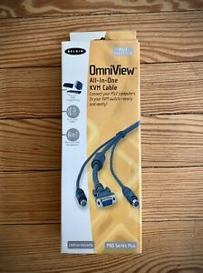 Belkin OmniView F3X1105-10 10ft All-In-One KVM PS/2 VGA Platform Cable Pro Unit