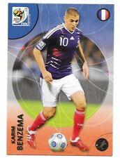 2010 Panini FRANCE KARIM BENZEMA World Cup Soccer FOOTBALL #110 CARD POST