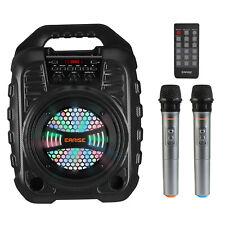Earise T26 Pro Karaoke Machine with 2 Wireless Microphones Remote Control
