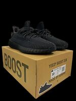 "ADIDAS YEEZY BOOST 350 V2 BLACK STATIC MEN""S SNEAKER 100% AUTHENTIC SIZE 10.5"