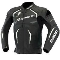 Suzuki Hayabusa Motorcycle Jackets Biker Racing Leather Motorbike Sports Adults