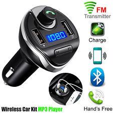 Wireless Bluetooth Car MP3 Player FM Transmitter Radio LCD 2 USB Hands Call Free