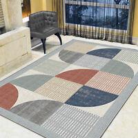Contemporary Area Rug Geometric Velvet Floor Mat Mordern Room Carpet Rugs Decor